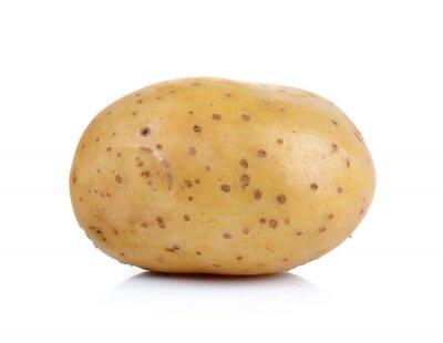 Nálepka brambory na bílém pozadí