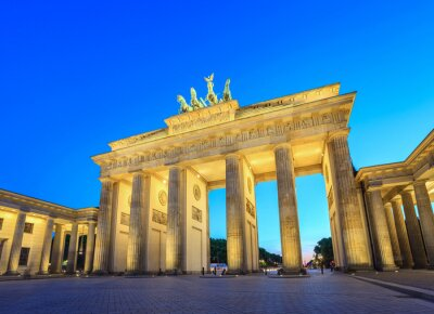 Nálepka Brandenburg Gate at night - Berlin - Germany