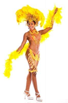 Nálepka Brazilská Samba tanečnice