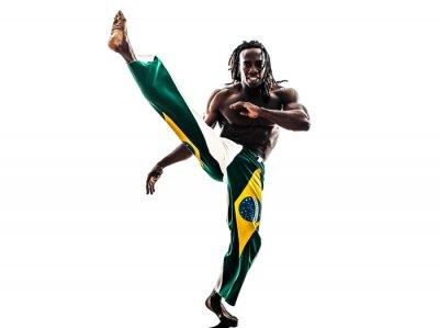 Nálepka Brazilský černoch tanečník tanec capoeira silueta