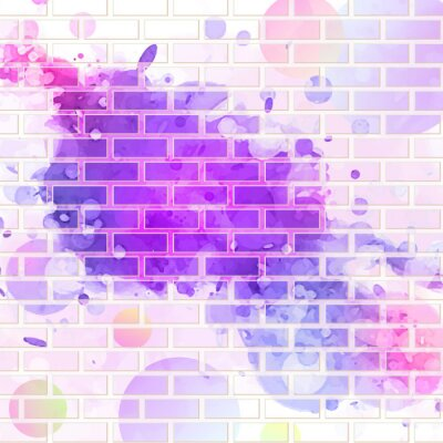 Nálepka brick wall, graffiti