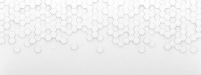 Nálepka Bright white abstract hexagon wallpaper or background - 3d render