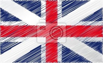 Britská vlajka, vektorové ilustrace