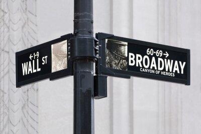 Nálepka Broadway uns Wall Street v New Yorku