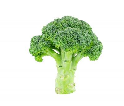 Nálepka Brokolice izolovat na bílém s ořezovou cestou