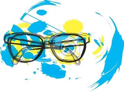 Brýle ilustrace