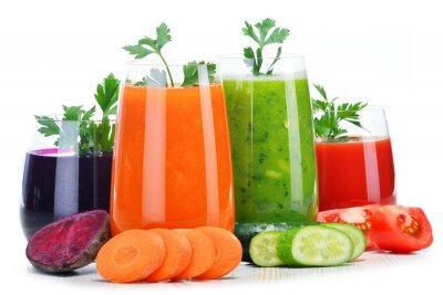 Nálepka Brýle s čerstvé zeleninové šťávy na bílém