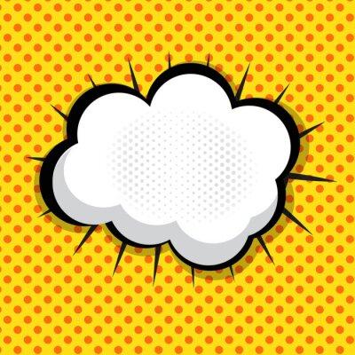 Nálepka Bublinu Pop Art Souvislosti Dne Dot pozadí vektor illust