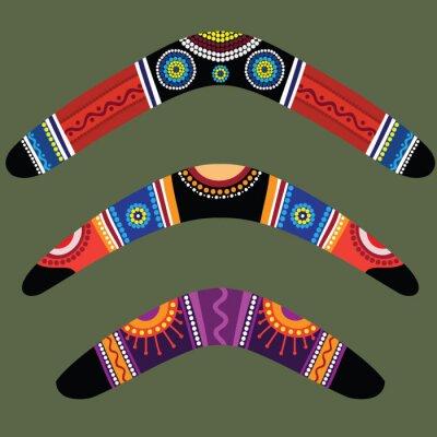 Nálepka Bumerangy se domorodé designu