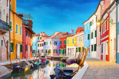 Nálepka Burano Benátky Itálie