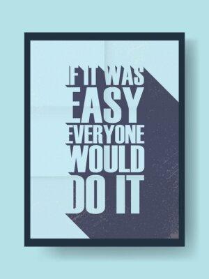 Nálepka Business motivační plakát o tvrdé práci proti lenosti na Vintage vektor pozadí. Dlouhý stín typografie zprávy