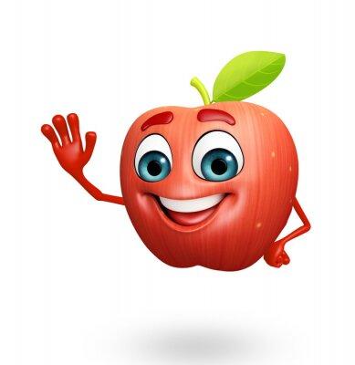 Nálepka Cartoon character of apple fruit