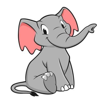Nálepka Cartoon Elephant