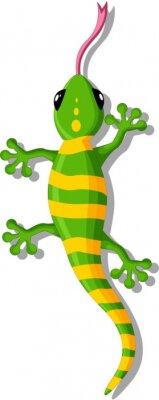 Nálepka Cartoon gekon pro vás design