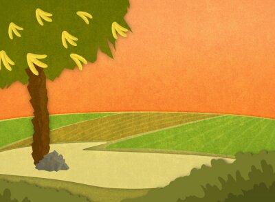 Nálepka Cartoon stylové rastr na pozadí obrázku.