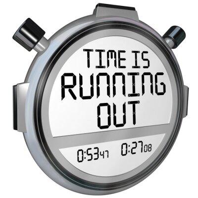 Nálepka Čas se krátí Stopky Timer Hodiny