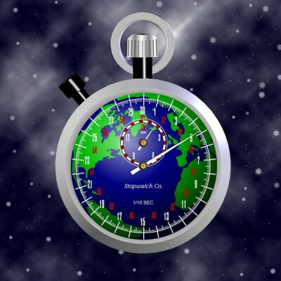 Čas ubíhá na Zemi