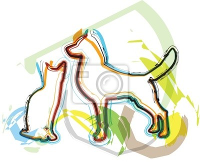 Cat & Dog ilustrace