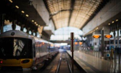 Nálepka Čekání na vlak