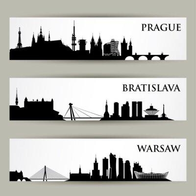 Nálepka Central Europe města panoramata