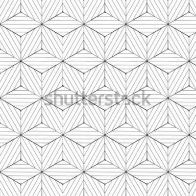 Nálepka Černá a bílá geometrický vzor, pozadí vektor.