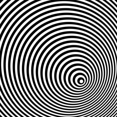Nálepka Černá a bílá optická iluze