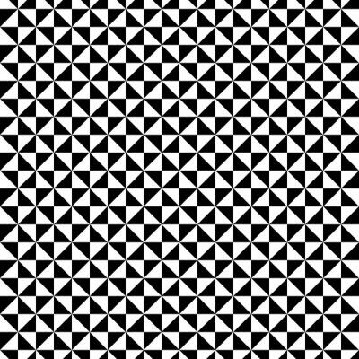 Nálepka Černá a bílá trojúhelník vzor
