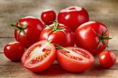 Nálepka Čerstvá červená rajčata