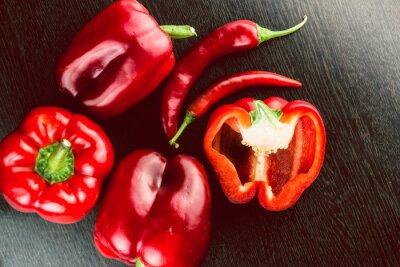 Nálepka Čerstvá zelenina Barevné papriky