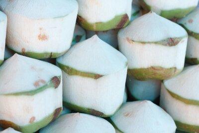Nálepka Čerstvé kokosové ořechy na trhu
