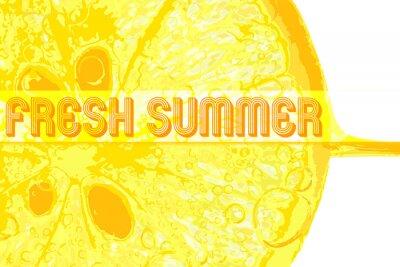 Nálepka Čerstvého citronu s textem čerstvé létě