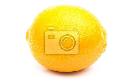 Nálepka Čerstvý citron izolovaných na bílém pozadí s ořezové cesty