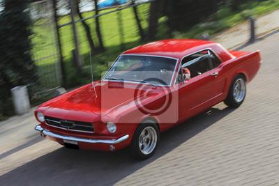 Nálepka Červené auto