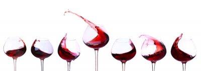 Nálepka Červené víno izolovaných na bílém