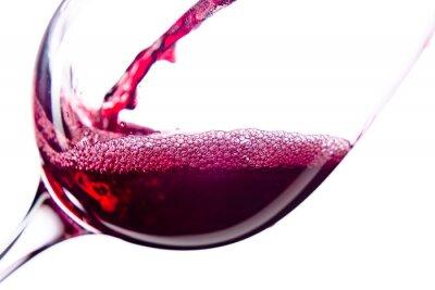 Nálepka Červené víno na bílém pozadí