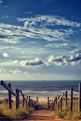Nálepka Cesta k pláži u moře