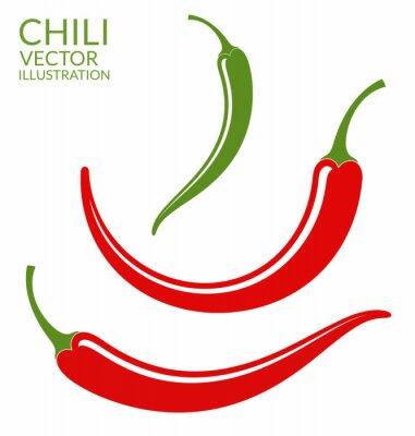 Nálepka Chilli Papričky