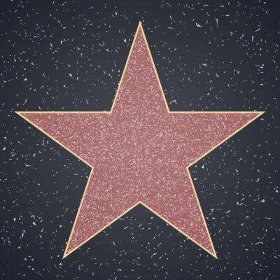Nálepka Chodník slávy. hvězda prázdná šablona