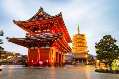 Nálepka Chrám Senso-ji v oblasti Asakusa v Tokiu, Japonsko