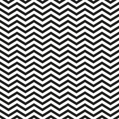 Nálepka Cik-cak vzor s černými čarami stylové ilustrační