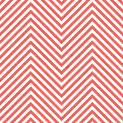 Nálepka Cikcak Red Pattern. Wave na pozadí ve vektorovém