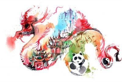 Nálepka Čína
