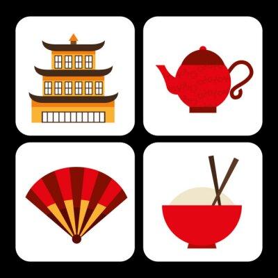 Nálepka Čínská kultura
