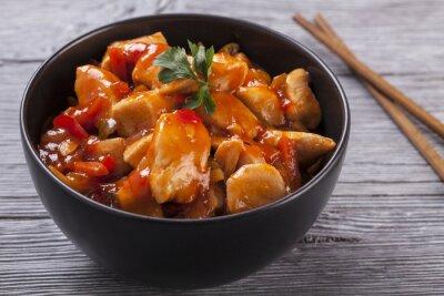Nálepka Čínská kuřecí sladké a kyselé omáčce