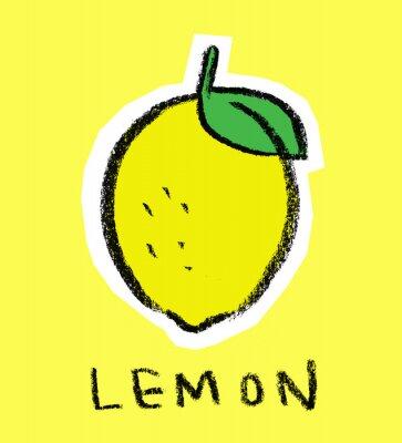 Nálepka Citron na žlutém pozadí