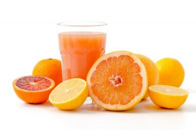 Nálepka Citrusové plody a šťáva