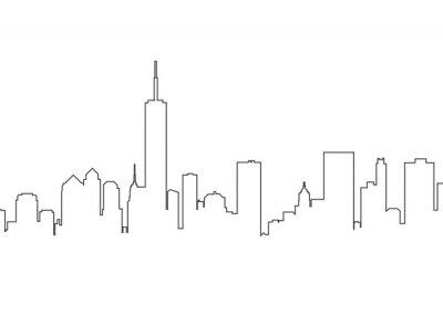 Nálepka City landscape line