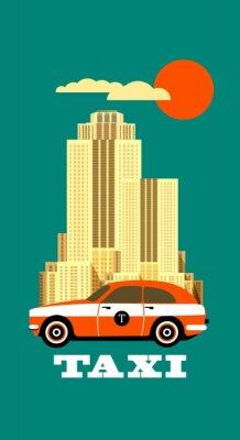 Nálepka City Taxi plakát