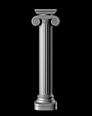 Nálepka Classic Column na černém pozadí