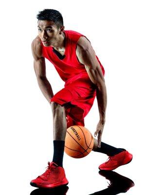 Nálepka člověk basketbalový hráč samostatný silueta